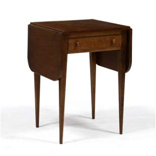 Southern Federal Cherry Drop Leaf One Drawer Side Table