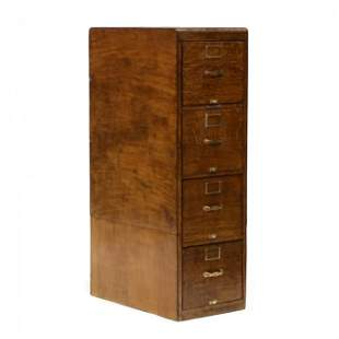 Vintage Oak Filing Cabinet