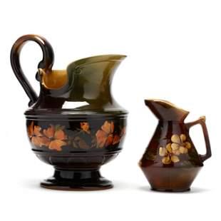 Two Lonhuda Pottery Pitchers