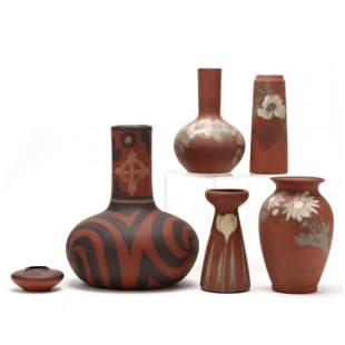 Clifton Pottery, Six Red Ware Examples