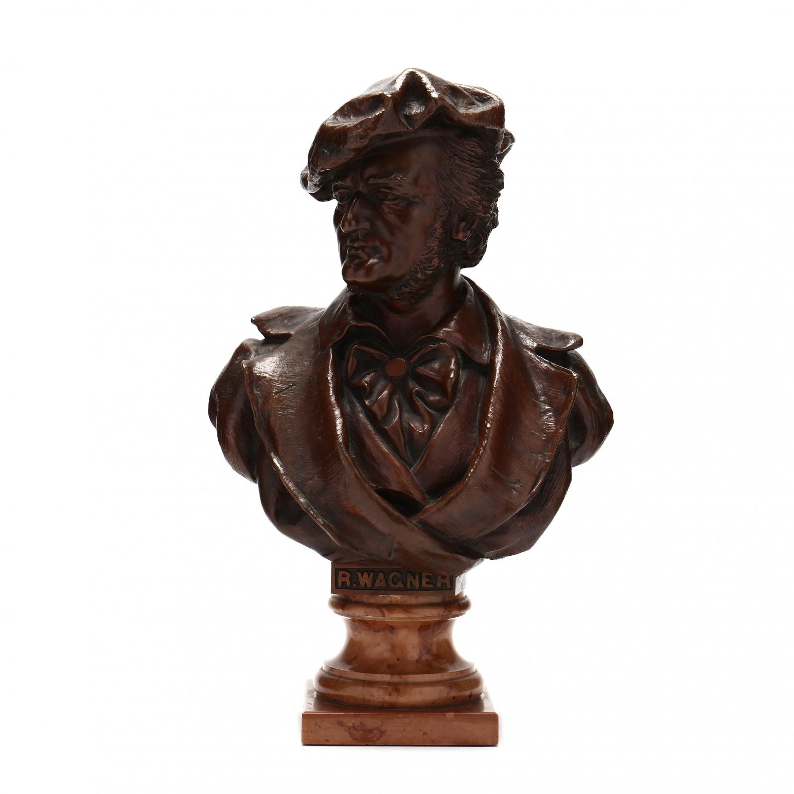 Bronze Bust of German Composer Richard Wagner