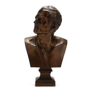 Bronze Bust of a Roman Statesman