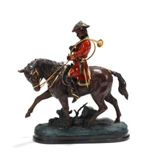 "Equestrian Bronze Signed ""Benji"""