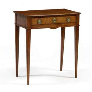 Antique French Oak One Drawer Side Table