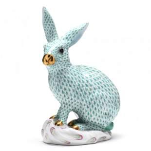 Large Herend Porcelain Rabbit