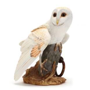 "The Franklin Mint Porcelain ""The Barn Owl"""