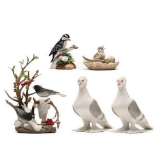 A Group of Boehm Porcelain Bird Figurines