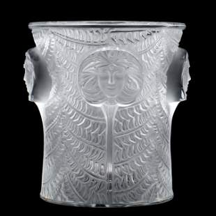 Lalique, Psyche Crystal Champagne Cooler