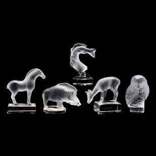 Lalique, Five Crystal Animals