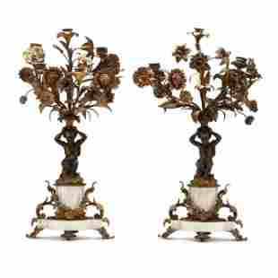 A Pair of Louis XVI Style Figural Candelabra