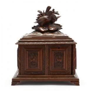 An Antique Black Forest Cigar Box