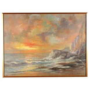 Louis - Alexis Saraben (French, 19th century), Sunset