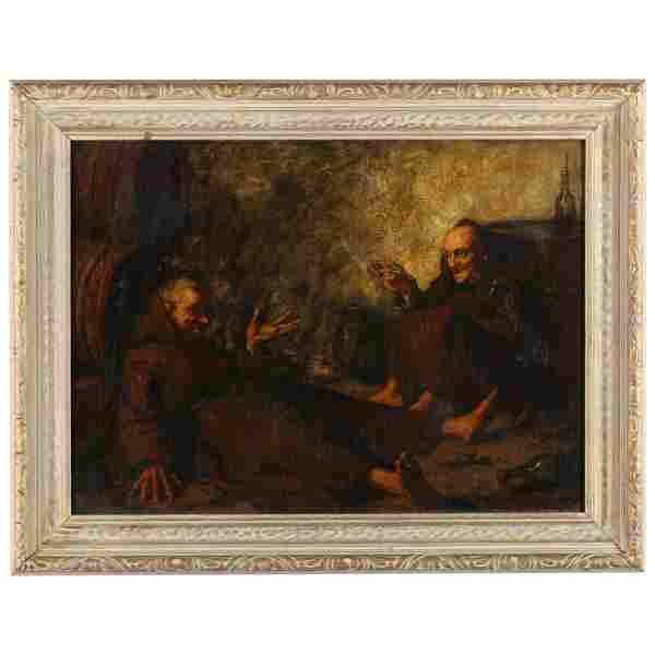 Piet J. Neuckens (Dutch, 1855-1922), Genre Scene of Two