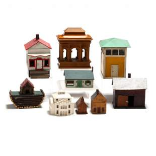 Collection of Nine Model Buildings