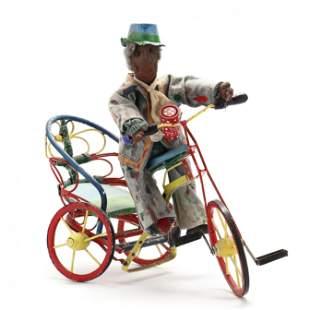 "Self Composition on Trike, Sam ""The Dot Man"" McMillan"