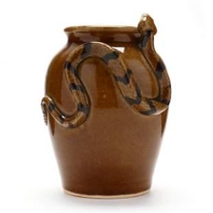 Folk Art Snake Vase, Otis Norris (Bethune, SC)
