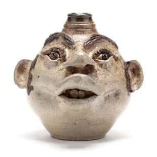 Folk Art Face Jug, John Brock (GA)