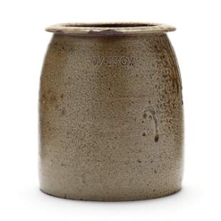 One Gallon Jar, William Thomas Fox (1840-?, Randolph