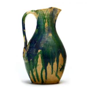 Pottery Pitcher, Log Cabin Pottery (Guilford, NC)