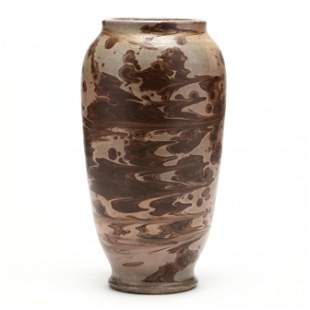 Stoneware Vase, Attributed C. R. Auman Pottery, C. B.