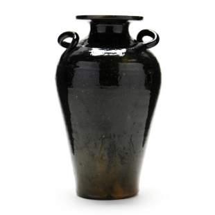 Twist Handle Vase, Attributed C. R. Auman Pottery (NC)