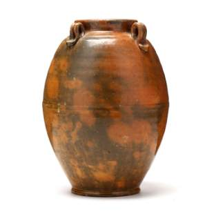 Early Jugtown Four Handle Vase, (NC)