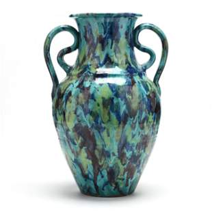 Multi-Colored Floor Vase, A. R. Cole Pottery (NC)