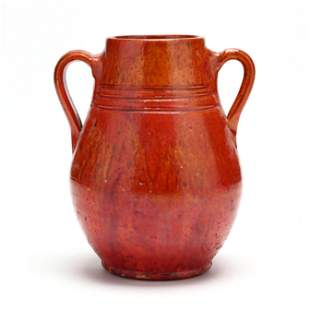 Double Handled Vase, Attributed J. B. Cole Pottery (NC)