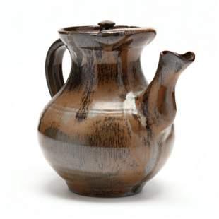 Tea / Coffee Pot, M. L. Owens, (Seagrove, NC)