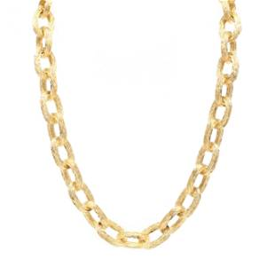 Vintage 18KT Gold Link Necklace, Tiffany & Co.