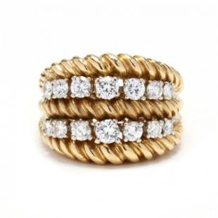 18KT Gold and Diamond Ring, Van Cleef & Arpels
