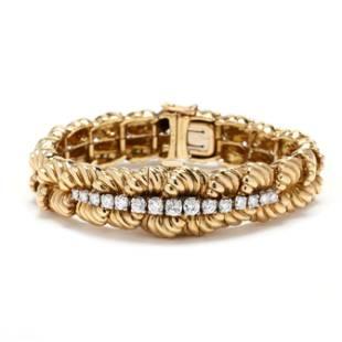 Vintage Gold and Diamond Bracelet Watch, Van Cleef &