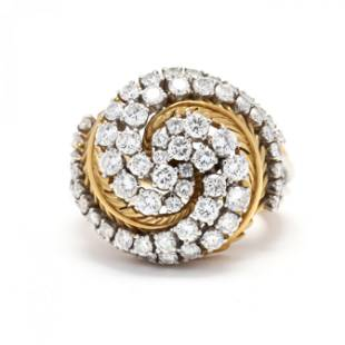 Bi-Color Gold and Diamond Ring