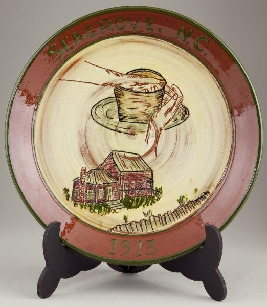 19: Dorothy & Walter Auman Seagrove Plate NC Pottery