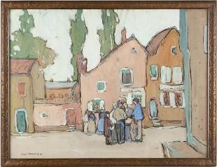 387: Jane Peterson (Am., 1876-1965), Breton Village