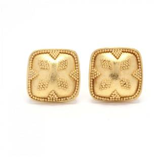 Gold Stud Earrings, Maya Niemans