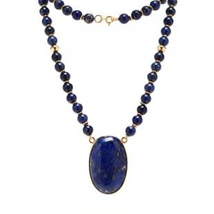 Gold and Lapis Lazuli Necklace