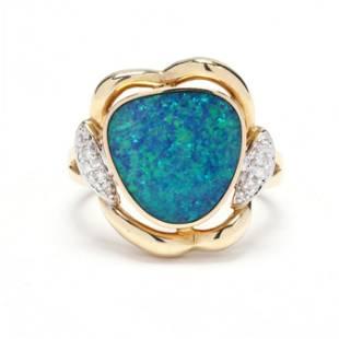 Bi-Color Gold & Gem-Set Ring