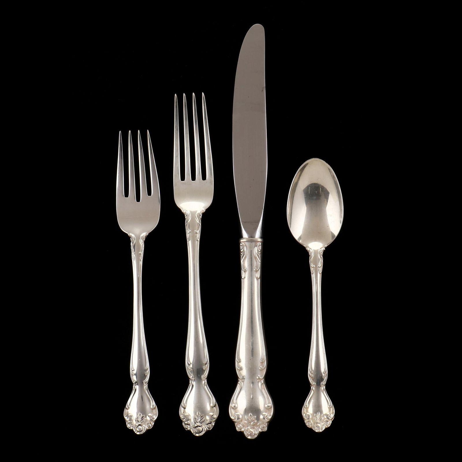 Gorham Secret Garden Sterling Silver Flatware Service