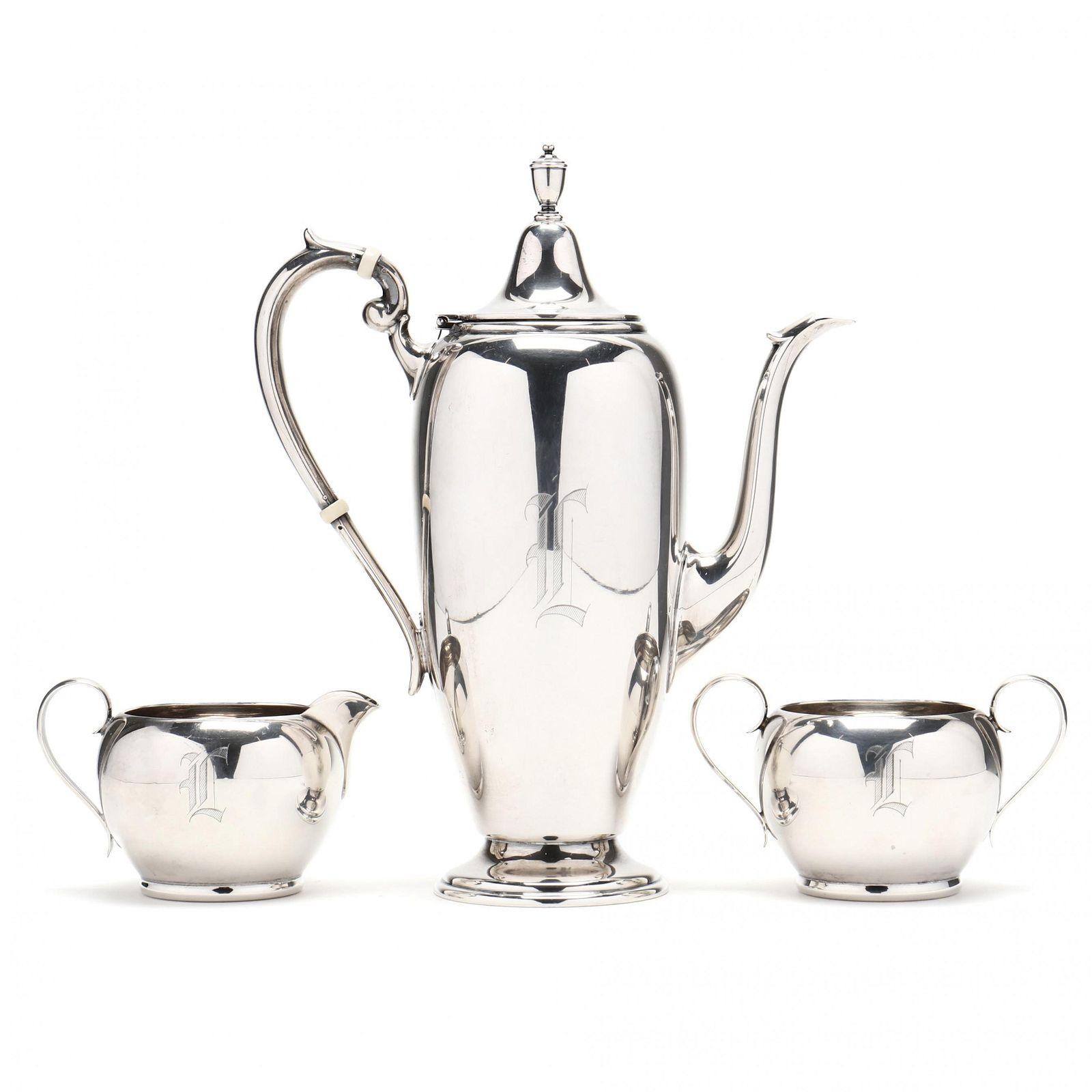 Three Piece Gorham Sterling Silver Coffee Set