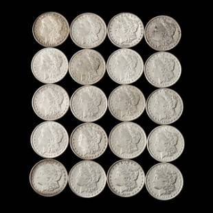 Mixed Roll of Twenty (20) Morgan Silver Dollars