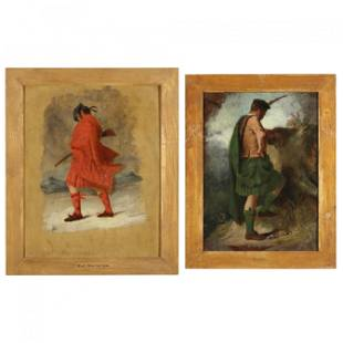 Two Paintings Representing the Scottish Clans, Cunn and