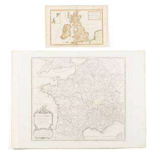 Two 18th Century Maps of Ancient Britain and Gaul