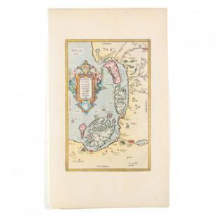 Ortelius, Abraham. Rugiae, Usedomiae, et Iulinae,