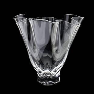 Steuben, Grotesque Crystal Tall Vase