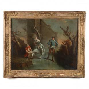 French School (18th century), An Elegant Trio of