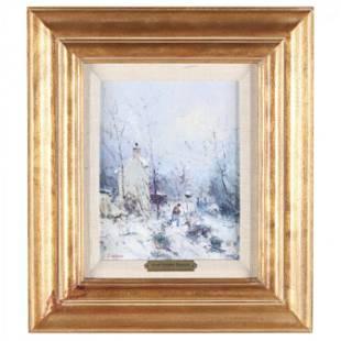 Jean-Pierre Dubord (French, born 1949), Winter Scene
