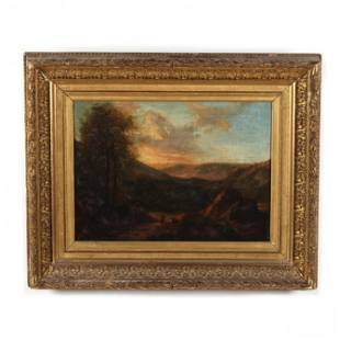 Italian School (circa 1800), A Hilly Landscape with