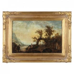 Continental School (19th century), Romantic Landscape