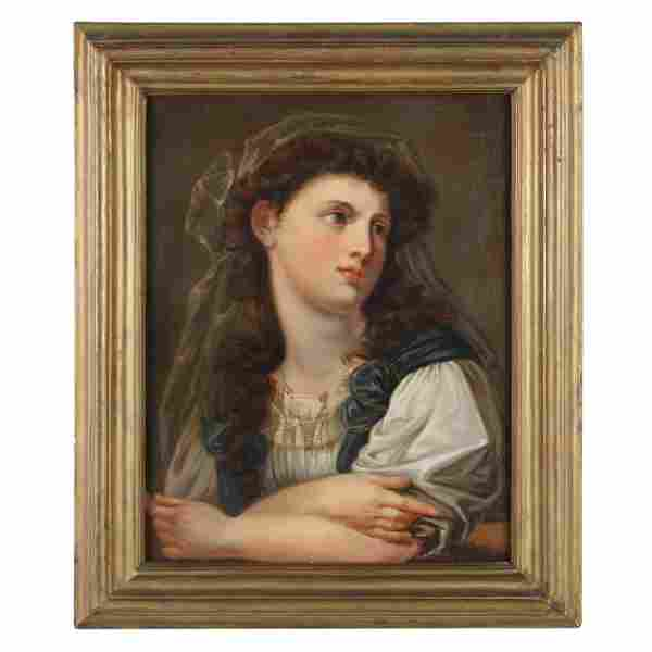 French School (19th century), Portrait of a Young Woman